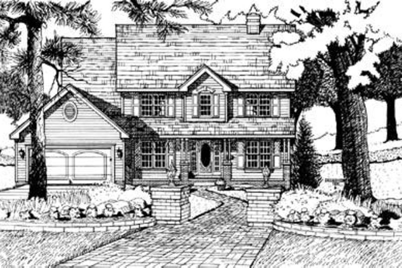 Country Exterior - Front Elevation Plan #20-934