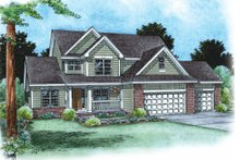 Dream House Plan - Traditional Exterior - Front Elevation Plan #20-1762
