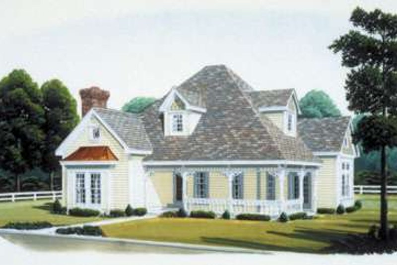 Victorian Exterior - Front Elevation Plan #410-239
