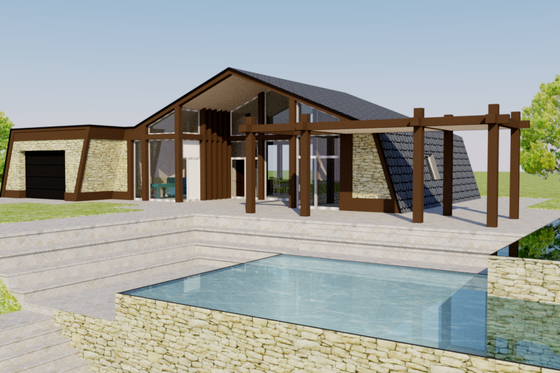Contemporary Exterior - Front Elevation Plan #542-2