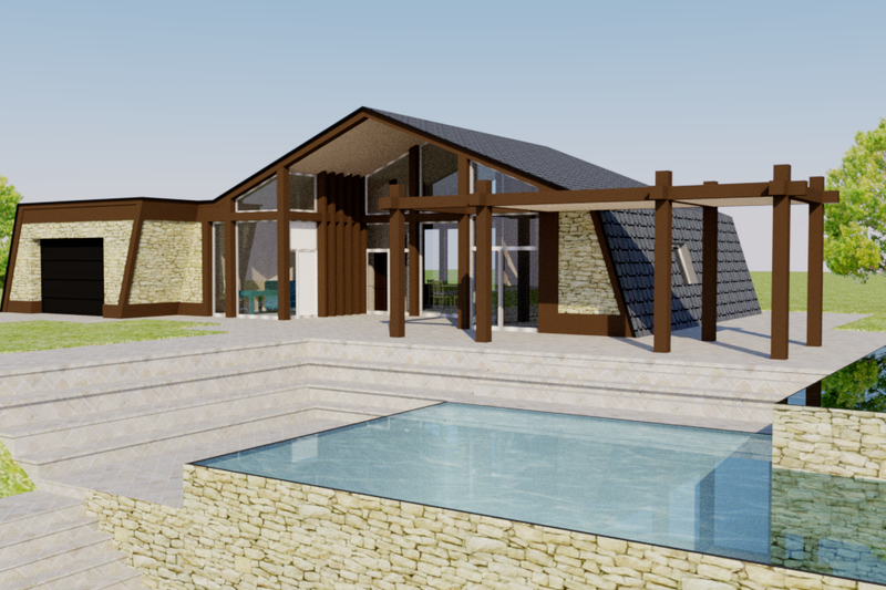 Dream House Plan - Contemporary Exterior - Front Elevation Plan #542-2