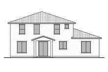 Architectural House Design - Southern Exterior - Rear Elevation Plan #1073-21