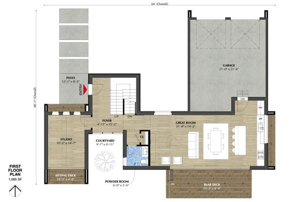 Modern Floor Plan - Main Floor Plan #933-7