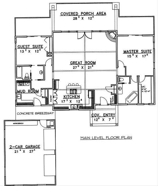 Traditional Floor Plan - Main Floor Plan Plan #117-548