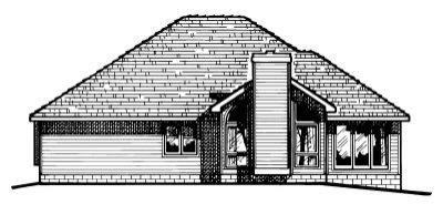 Traditional Exterior - Rear Elevation Plan #20-152 - Houseplans.com