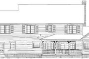 Country Style House Plan - 4 Beds 2.5 Baths 2599 Sq/Ft Plan #11-215 Exterior - Rear Elevation