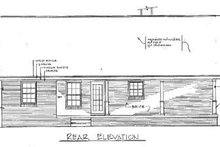 Cabin Exterior - Rear Elevation Plan #14-140