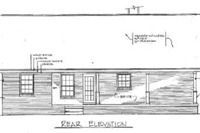 Cabin Exterior - Rear Elevation Plan #14-140 - Houseplans.com