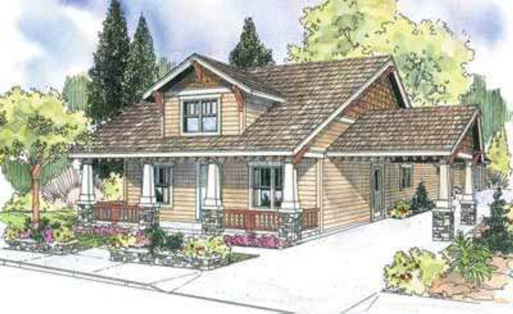 Craftsman Style House Plan - 3 Beds 2.5 Baths 2222 Sq/Ft ... on contemporary porte cochere, narrow lot house plans with loft, custom porte cochere, narrow lot house plans with pool, colonial porte cochere, narrow lot house plans with 3 car garage, narrow lot house plans with porch, hotel porte cochere,