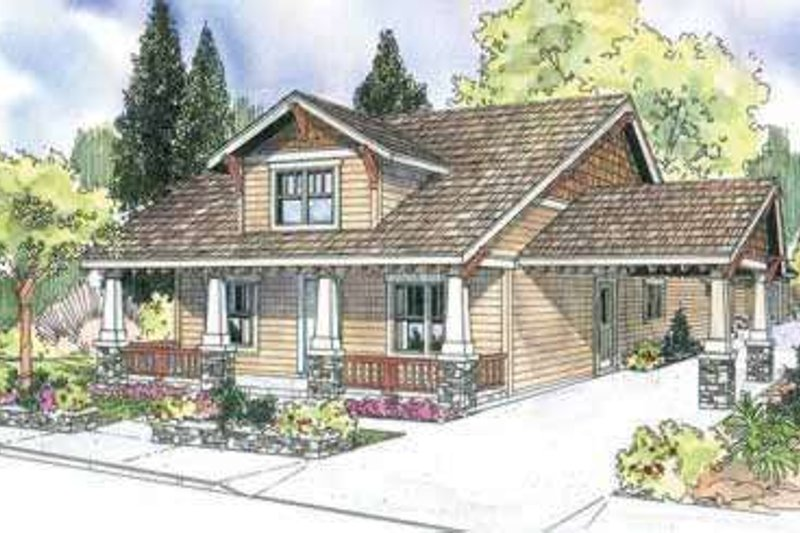 Craftsman Exterior - Front Elevation Plan #124-611