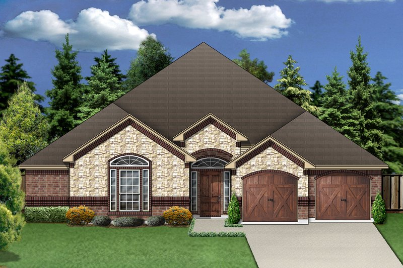 Traditional Exterior - Front Elevation Plan #84-370 - Houseplans.com