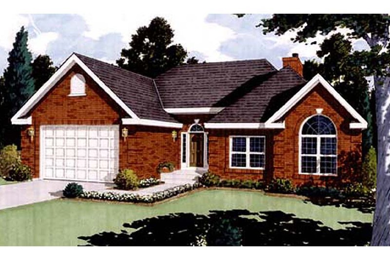 Ranch Exterior - Front Elevation Plan #3-232