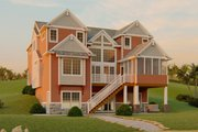 Craftsman Style House Plan - 5 Beds 2.5 Baths 2436 Sq/Ft Plan #1064-13 Exterior - Rear Elevation