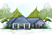 European Style House Plan - 4 Beds 2 Baths 2000 Sq/Ft Plan #36-483 Exterior - Front Elevation