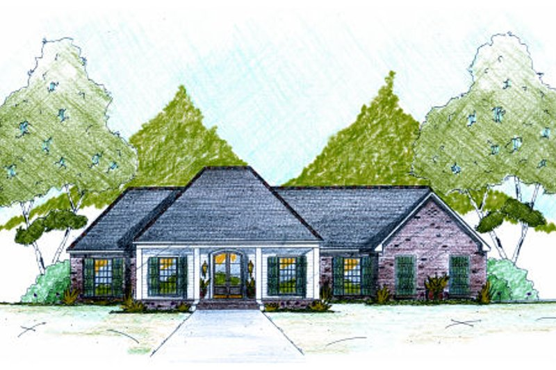 Dream House Plan - European Exterior - Front Elevation Plan #36-483