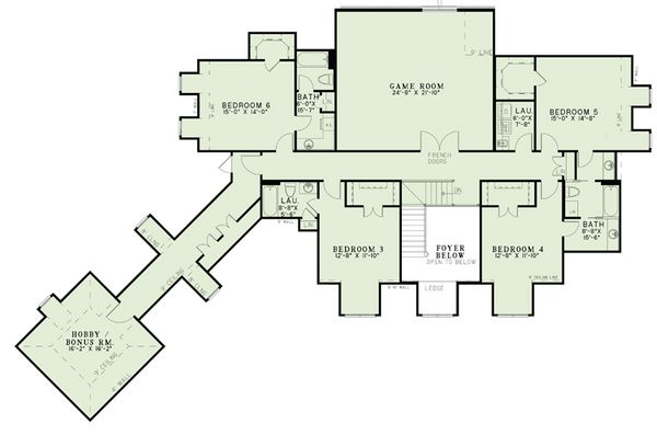 Dream House Plan - European Floor Plan - Upper Floor Plan #17-2505