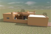 Adobe / Southwestern Style House Plan - 3 Beds 2 Baths 1618 Sq/Ft Plan #450-9 Exterior - Outdoor Living