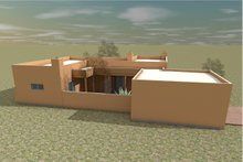 House Plan Design - Adobe / Southwestern Exterior - Outdoor Living Plan #450-9