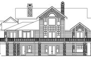 European Style House Plan - 3 Beds 3.5 Baths 3653 Sq/Ft Plan #124-586 Exterior - Rear Elevation