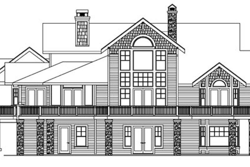 European Exterior - Rear Elevation Plan #124-586 - Houseplans.com