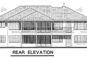 European Style House Plan - 2 Beds 2 Baths 1573 Sq/Ft Plan #18-147 Exterior - Rear Elevation