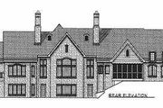 European Style House Plan - 3 Beds 2.5 Baths 3774 Sq/Ft Plan #70-534 Exterior - Rear Elevation