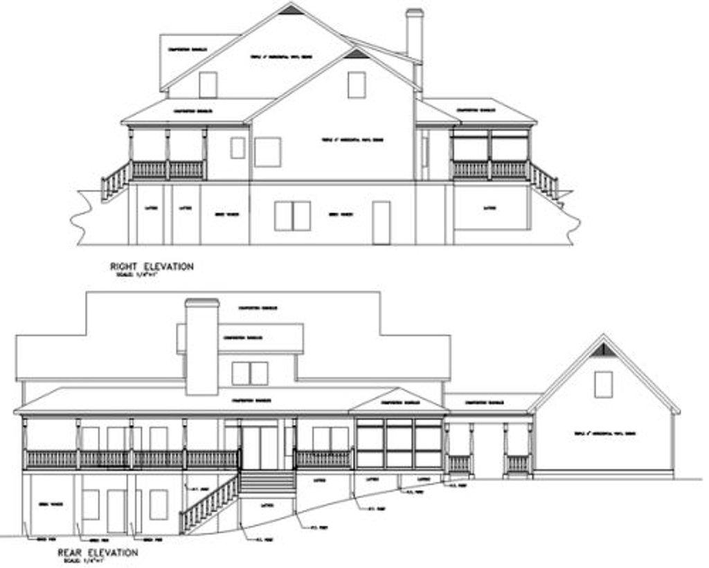 Farmhouse Style House Plan 4 Beds 3 5 Baths 3493 Sq Ft