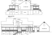 Farmhouse Style House Plan - 4 Beds 3.5 Baths 3493 Sq/Ft Plan #56-222 Exterior - Rear Elevation