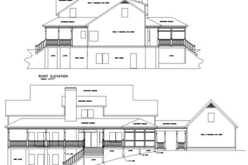 Farmhouse Exterior - Rear Elevation Plan #56-222 - Houseplans.com