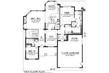 Ranch Floor Plan - Main Floor Plan Plan #70-1071