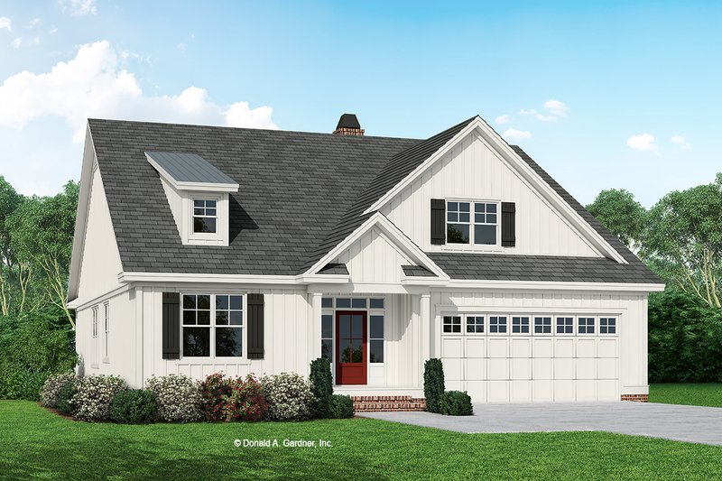 Country Exterior - Front Elevation Plan #929-1081