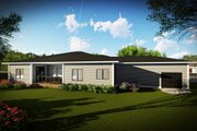 Ranch Style House Plan - 3 Beds 2.5 Baths 2267 Sq/Ft Plan #70-1495 Exterior - Rear Elevation