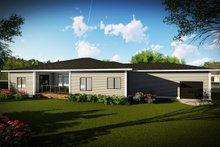 Dream House Plan - Ranch Exterior - Rear Elevation Plan #70-1495