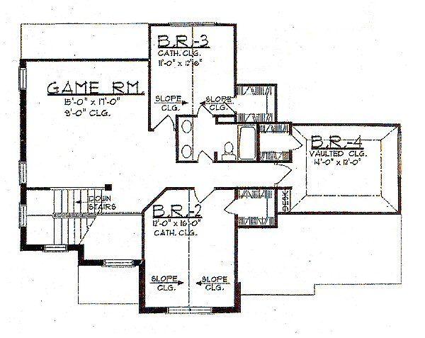 European Floor Plan - Upper Floor Plan Plan #62-145