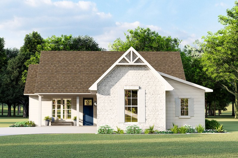 Cottage Style House Plan - 3 Beds 2 Baths 1782 Sq/Ft Plan #406-9657 Exterior - Front Elevation