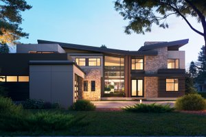 Contemporary Exterior - Front Elevation Plan #1066-110