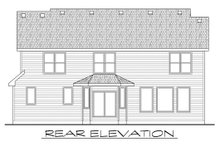 Craftsman Exterior - Rear Elevation Plan #20-2114
