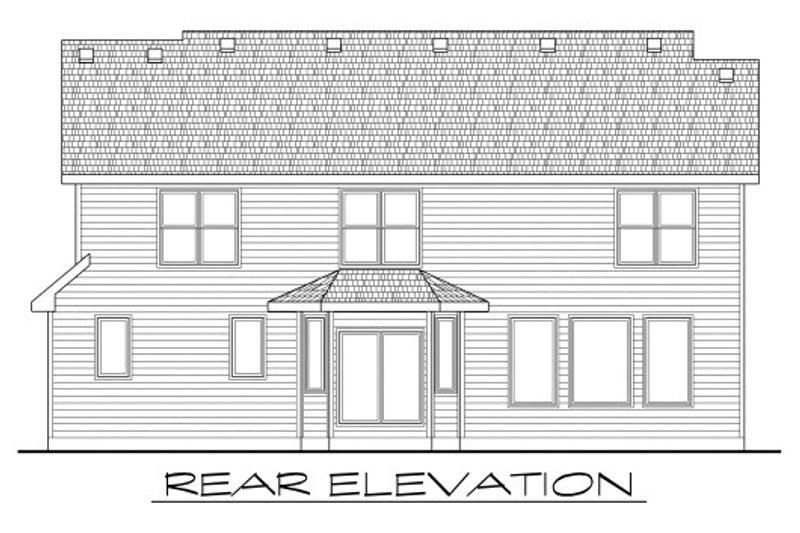 Craftsman Exterior - Rear Elevation Plan #20-2114 - Houseplans.com