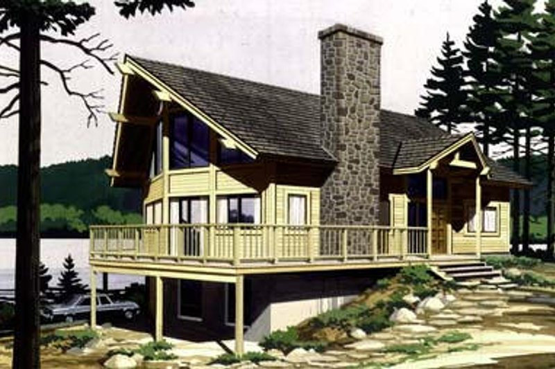 Bungalow Style House Plan - 3 Beds 2 Baths 1933 Sq/Ft Plan #320-155 Exterior - Front Elevation