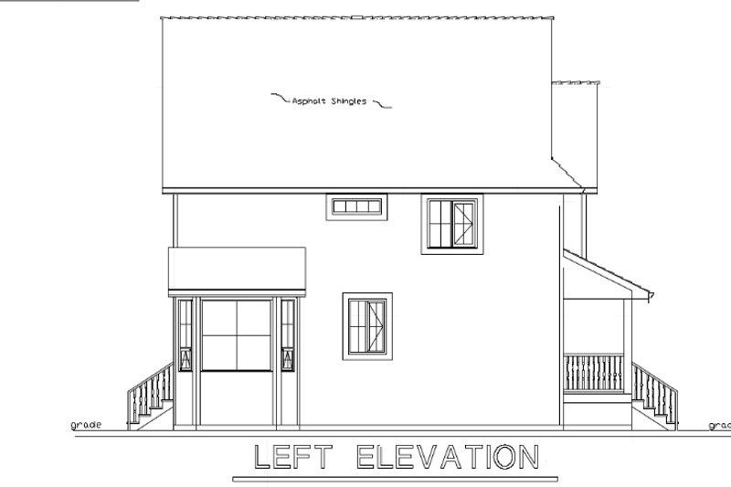 Cottage Exterior - Other Elevation Plan #18-289 - Houseplans.com