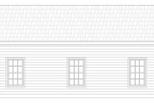 Country Exterior - Rear Elevation Plan #932-121