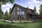 Cottage Style House Plan - 3 Beds 2 Baths 2060 Sq/Ft Plan #124-1130 Exterior - Rear Elevation