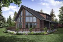 Cottage Exterior - Rear Elevation Plan #124-1130