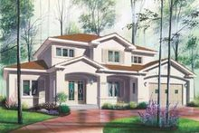 Exterior - Front Elevation Plan #23-491