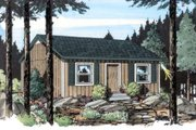 Cottage Style House Plan - 2 Beds 1 Baths 576 Sq/Ft Plan #312-358 Exterior - Front Elevation