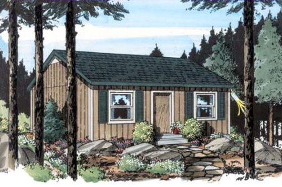 Cottage Exterior - Front Elevation Plan #312-358
