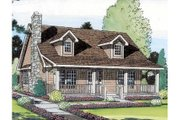 Country Style House Plan - 3 Beds 2 Baths 1415 Sq/Ft Plan #312-363 Exterior - Other Elevation