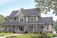 Home Plan - Country Exterior - Front Elevation Plan #11-121