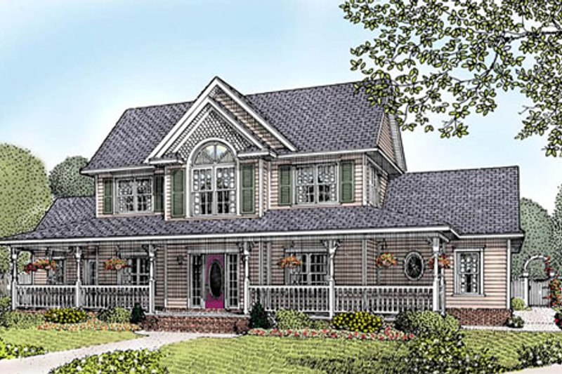 Country Exterior - Front Elevation Plan #11-121