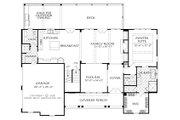 Farmhouse Style House Plan - 3 Beds 3.5 Baths 2743 Sq/Ft Plan #927-987 Floor Plan - Main Floor Plan